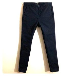 H&M slim fit dark blue dress pants